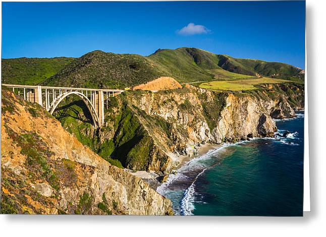 Big Sur Beach Greeting Cards - Bixby Creek Bridge in Big Sur California Greeting Card by Jon Bilous