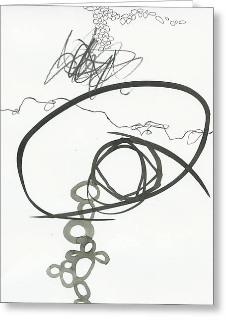 Drawing Greeting Cards - Black and White 2 Greeting Card by Jane Davies