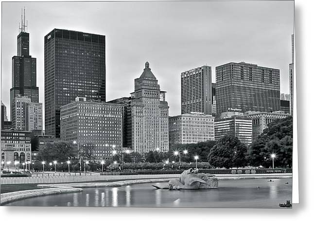 Theater Greeting Cards - Black and White Buckingham Greeting Card by Frozen in Time Fine Art Photography