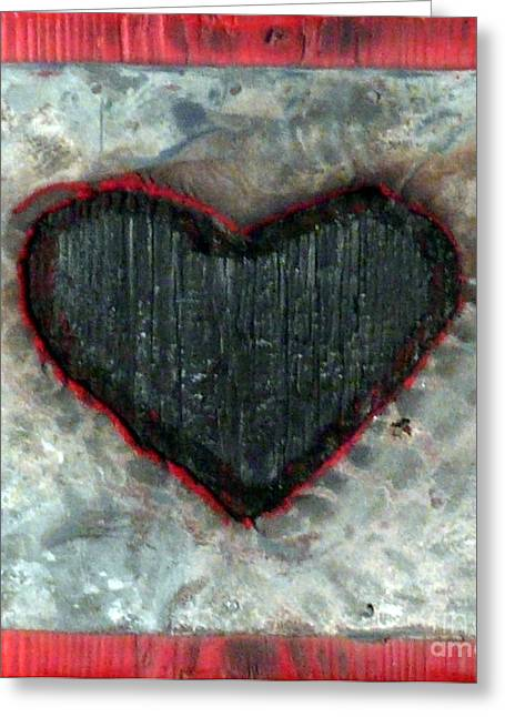Icon Sculptures Greeting Cards - Black Heart Greeting Card by Jane Clatworthy