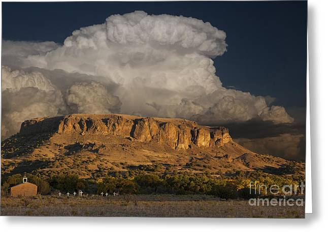 Building Exterior Photographs Greeting Cards - Black Mesa Greeting Card by Keith Kapple
