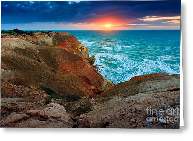 Blanche Greeting Cards - Blanche Point Sunset Greeting Card by Bill  Robinson