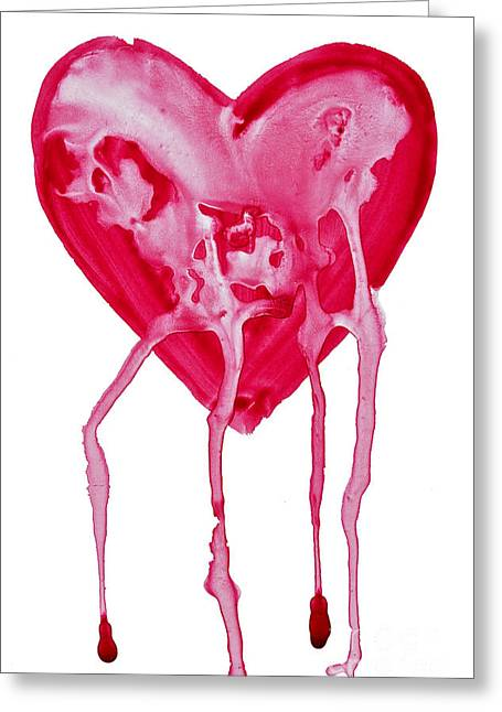 Bleeding Heart Greeting Card by Michal Boubin