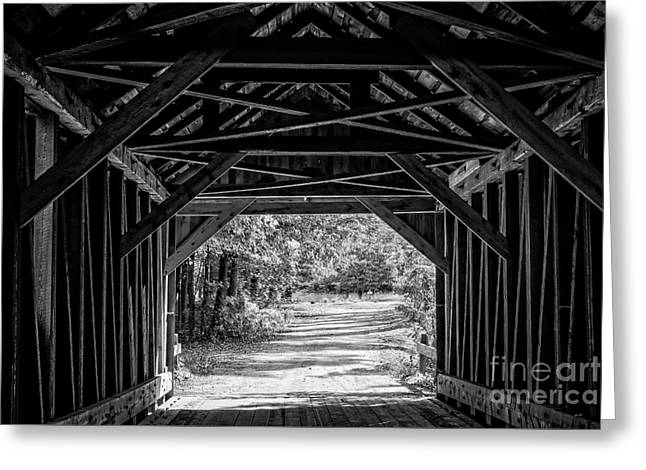 Blow Me Down Covered Bridge Cornish New Hampshire Greeting Card by Edward Fielding