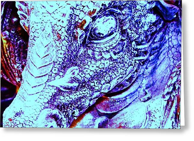 Blue-Dragon Greeting Card by Ramon Labusch