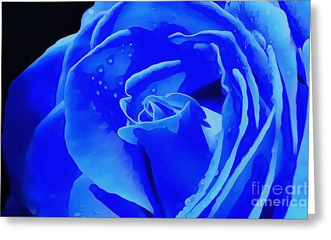 Blue Romance Greeting Card by Krissy Katsimbras