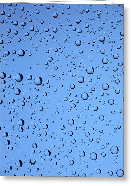 Art Therapy Greeting Cards - Blue Water Bubbles Greeting Card by Frank Tschakert