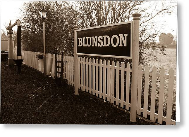 Blunsdon Station At Swindon And Cricklade Railway Greeting Card by Steven Sexton