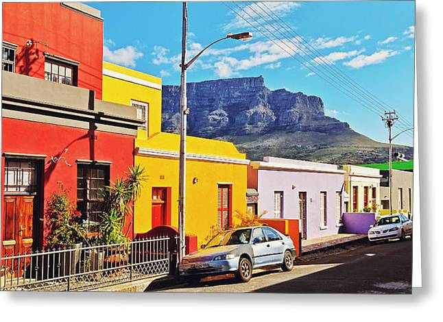 Residential Structure Greeting Cards - Bo-Kaap Malayan Quarter Greeting Card by Benjamin Matthijs