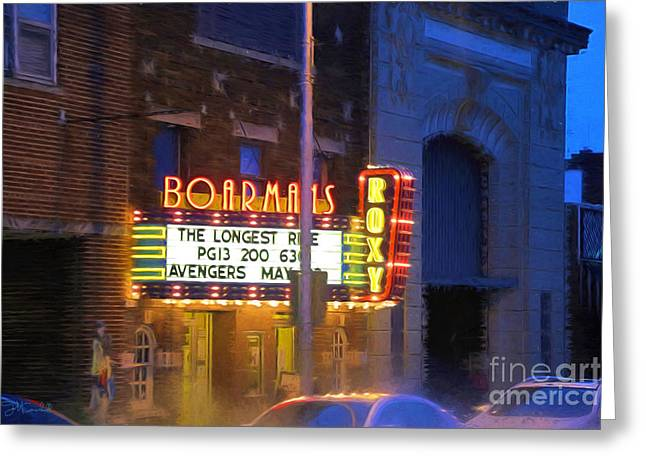 Theater Greeting Cards - Boarmans Roxy Theatre Greeting Card by Theresa Campbell