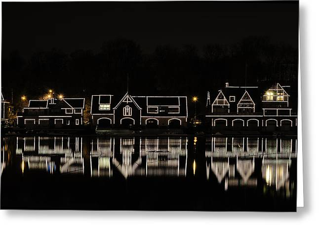 River View Greeting Cards - Boathouse Row - Philadelphia Greeting Card by Brendan Reals