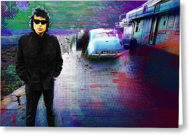 Bob Dylan No Direction Home 2 Greeting Card by Tony Rubino
