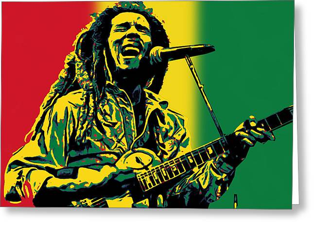 Reggie Music Art Greeting Cards - Bob Marley Greeting Card by Riccardo Zullian
