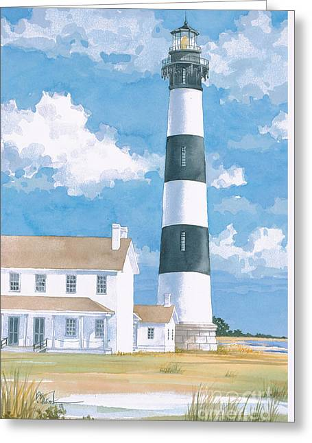 Light House Greeting Cards - Bodie Island Lighthouse Greeting Card by Paul Brent