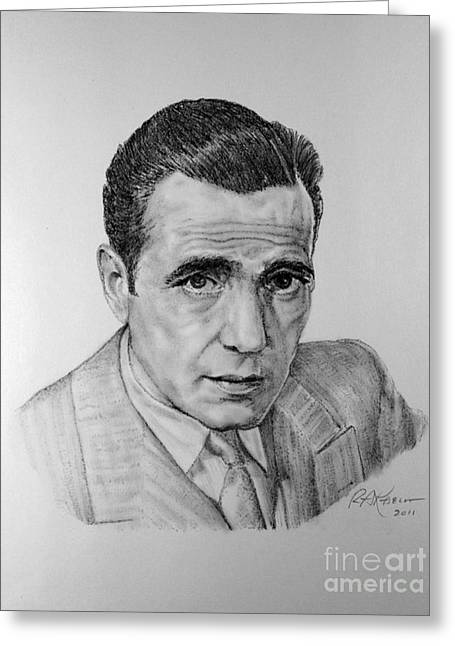 Angels With Dirty Faces Greeting Cards - Bogart Greeting Card by Roy Kaelin