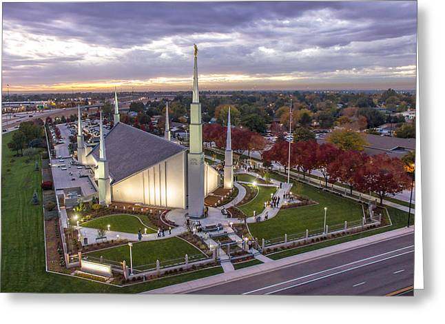 Best Sellers -  - Saint Joseph Greeting Cards - Boise Idaho LDS Temple Greeting Card by SkyBlue Photos - Rusty Hill