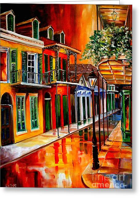 Bold Vieux Carre Greeting Card by Diane Millsap