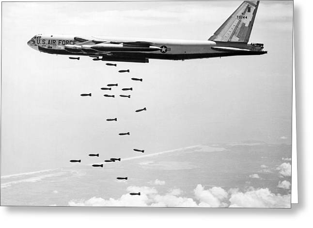 Bombing Vietnam Greeting Card by Underwood Archives