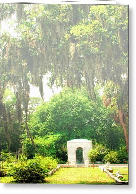 Bonaventure Greeting Cards - BONAVENTURE CEMETERY Savannah GA Greeting Card by William Dey