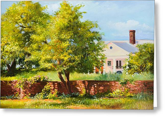 Boone Hall Greeting Cards - Boone Hall Plantation Greeting Card by Jane Woodward