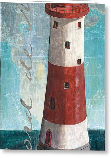 Lighthouse Greeting Cards - Bord de Mer Greeting Card by Debbie DeWitt