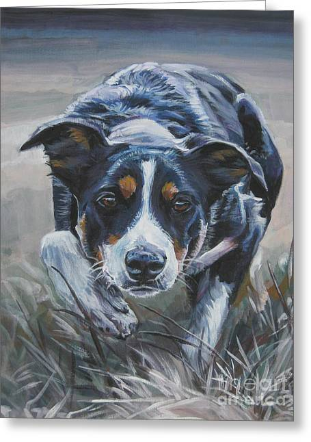 Border Collie Greeting Card by Lee Ann Shepard
