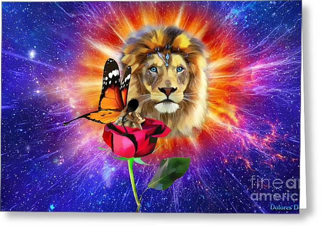 Born Again Greeting Card by Dolores Develde