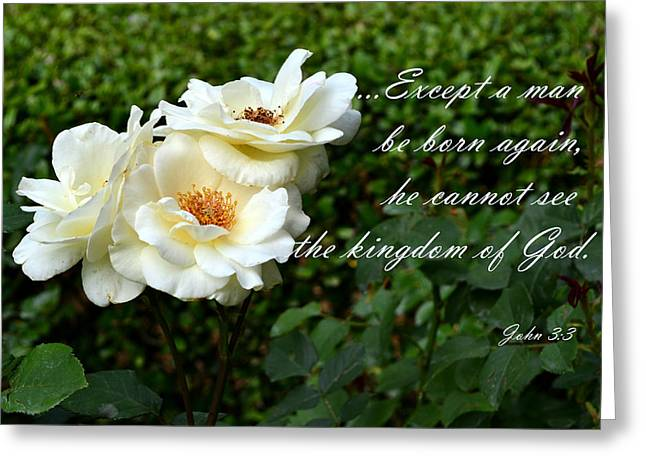 Born Again Greeting Card by Larry Bishop