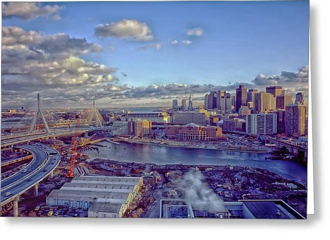 Charles River Greeting Cards - Boston At Dusk Greeting Card by Mountain Dreams