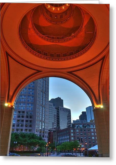 Boston Ma Greeting Cards - Boston Harbor Hotel Rotunda Greeting Card by Joann Vitali