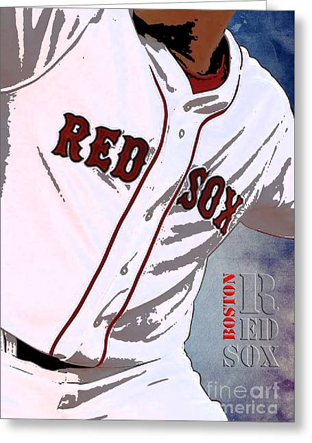 Boston Red Sox Uniform Greeting Card by Pablo Franchi