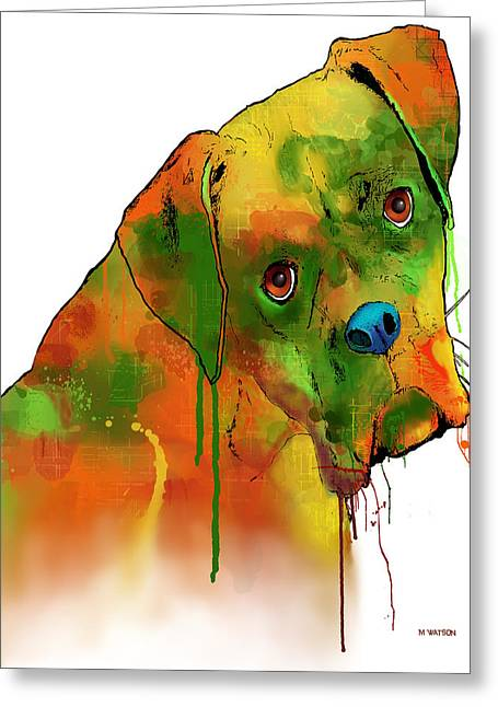 Boxer Digital Greeting Cards - Boxer Greeting Card by Marlene Watson