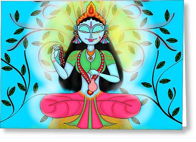Brahmacharini Greeting Card by Pratyasha Nithin