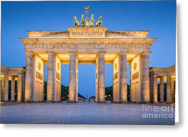 Town Square Greeting Cards - Brandenburg Gate Greeting Card by JR Photography