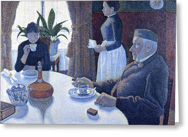 Breakfast Greeting Card by Paul Signac
