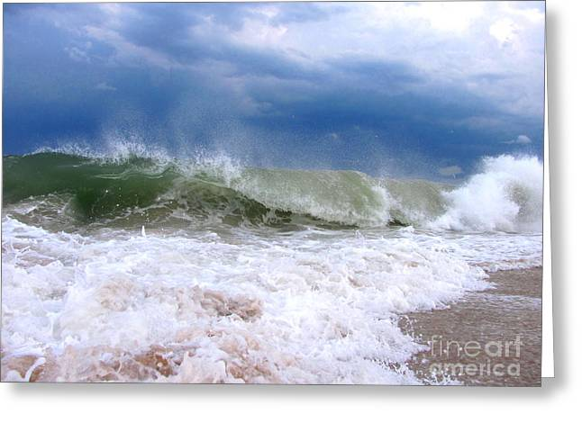 Recently Sold -  - Ocean Art Photos Greeting Cards - Breaking Greeting Card by Joshua Bales
