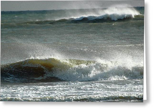 Eau Greeting Cards - Breaking Waves Greeting Card by Anahi DeCanio