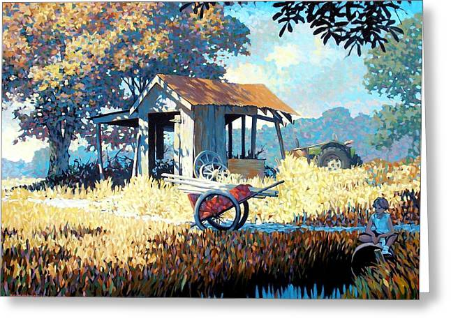 Shed Paintings Greeting Cards - Breaktime Greeting Card by Kevin Lawrence Leveque