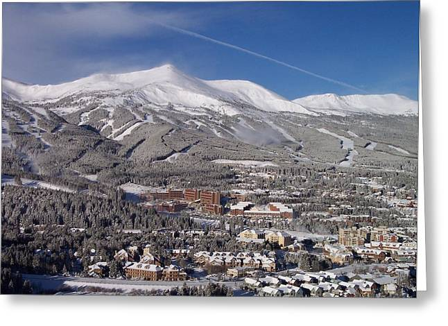 Travel Greeting Cards - Breckenridge Powder Day Greeting Card by Michael J Bauer