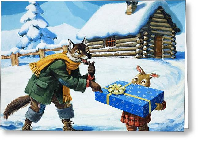 Bedtime Greeting Cards - Brer Rabbit  Greeting Card by Virginio Livraghi