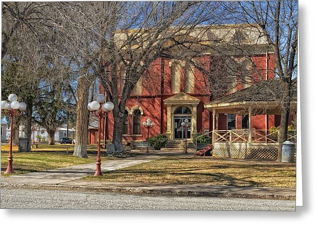 Old Street Greeting Cards - Brewster County Courthouse Greeting Card by Mountain Dreams