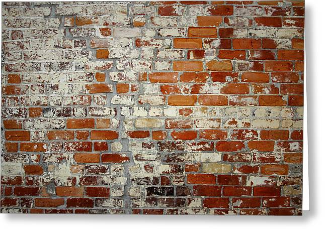 Rough Greeting Cards - Brick wall Greeting Card by Les Cunliffe