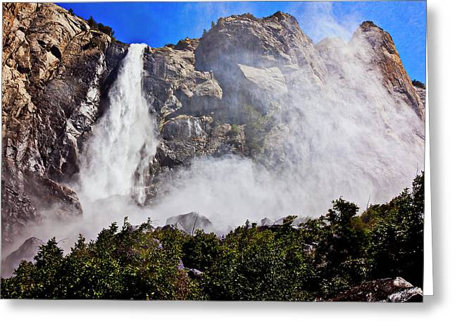 Bridalveil Falls Greeting Cards - Bridalveil Fall Yosemite Valley Greeting Card by Garry Gay
