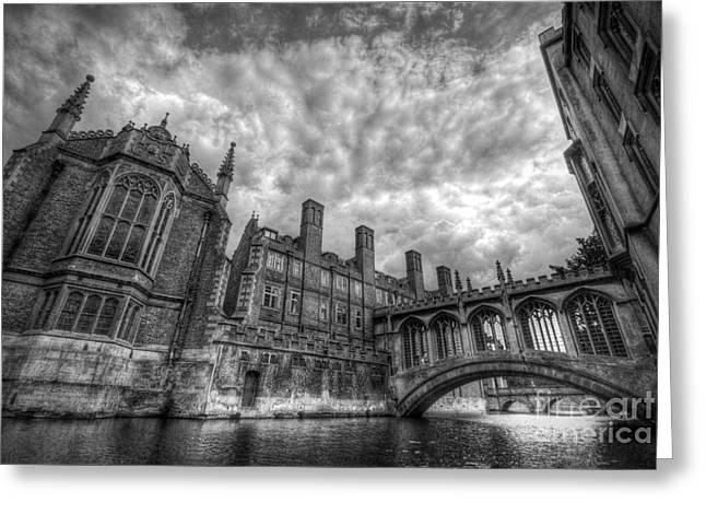 Distortion Photographs Greeting Cards - Bridge Of Sighs - Cambridge Greeting Card by Yhun Suarez