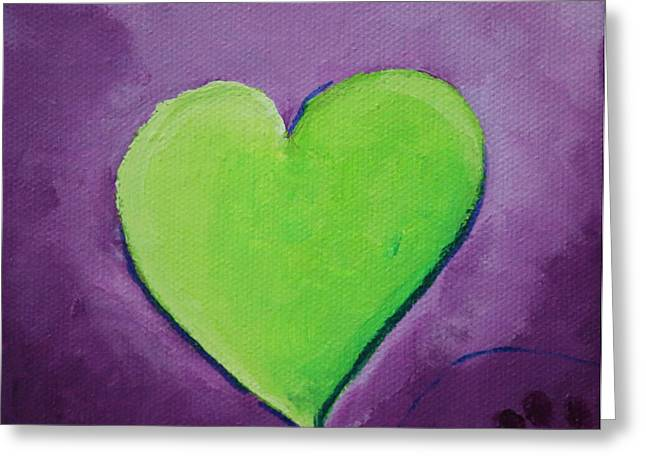 Kite Greeting Cards - Bright Heart Greeting Card by Susan Herber