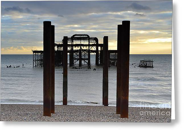 Brighton West Pier Greeting Card by Stephen Smith