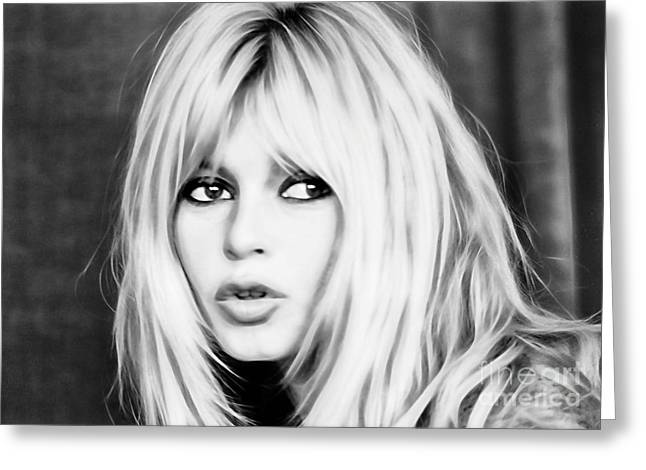 Brigitte Bardot Collection Greeting Card by Marvin Blaine