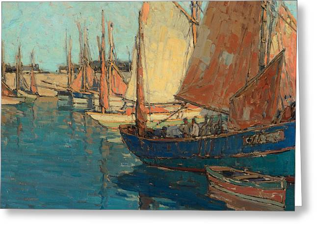 Edgar Payne Greeting Cards - Brittany Boats Greeting Card by Celestial Images