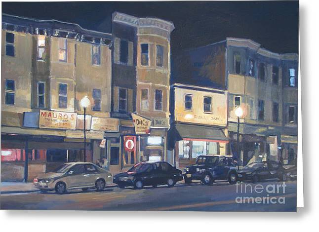 Broadway Nocturne Greeting Card by Deb Putnam