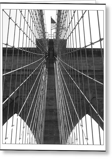 Beach Decor Pyrography Greeting Cards - Brooklyn bridge Greeting Card by Habib Ayat
